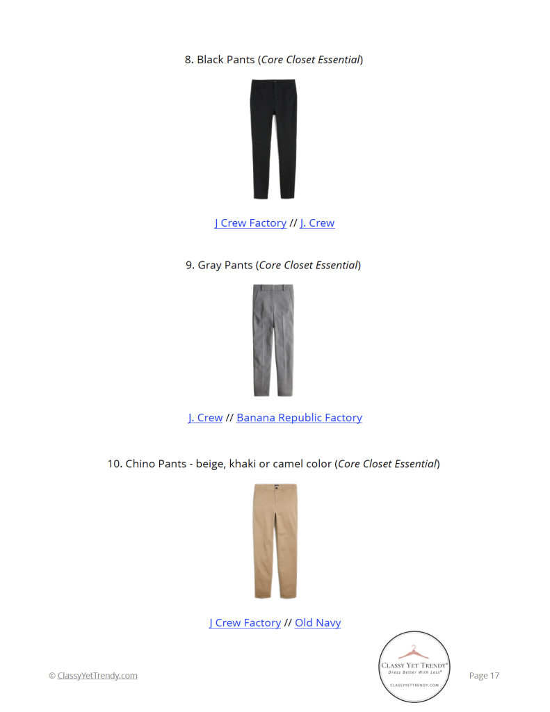 The Teacher Capsule Wardrobe - Fall 2021 Collection - shopping links