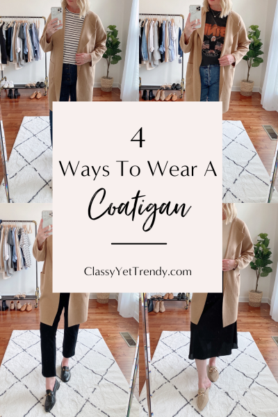 4 WAYS TO WEAR A COATIGAN