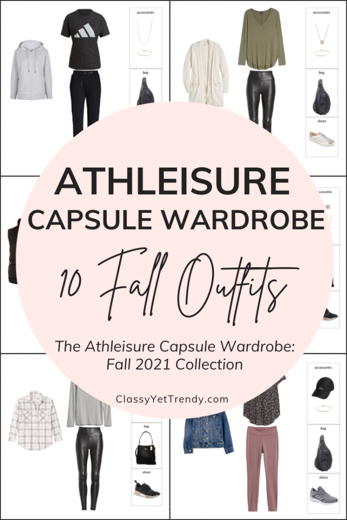 Athleisure Capsule Wardrobe Fall 2021 - 10 Outfits Pin