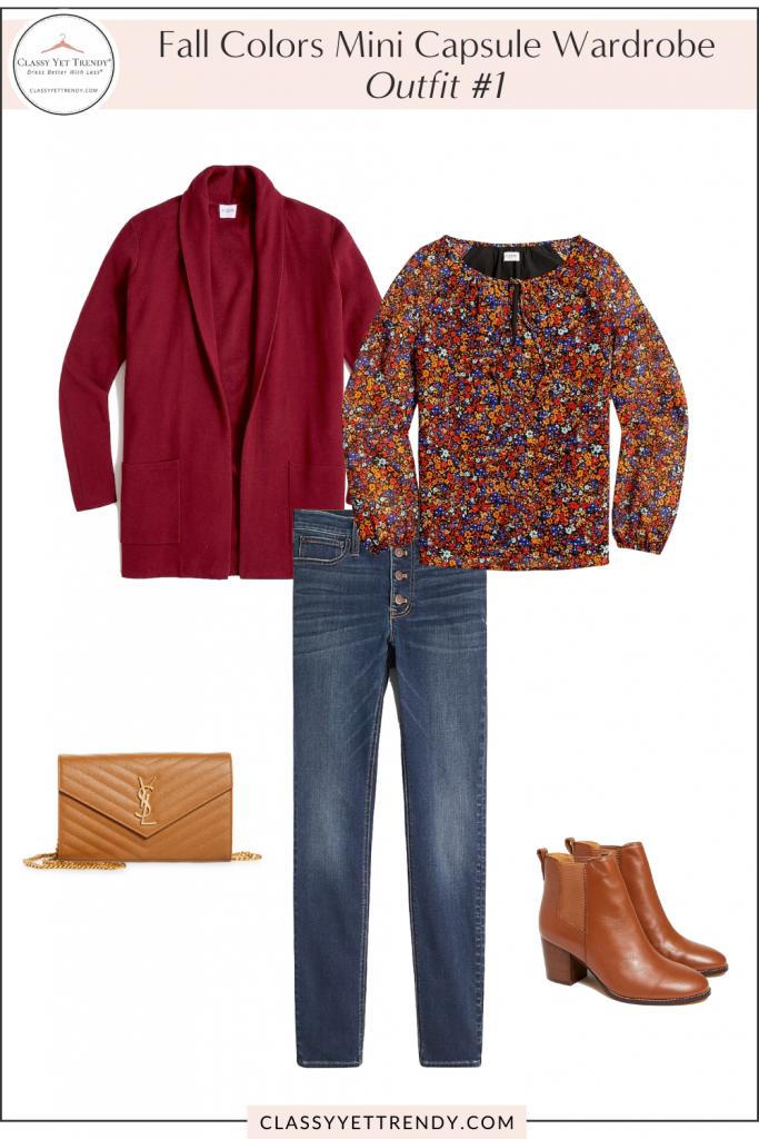 Fall Colors Mini Capsule Wardrobe - Outfit 1