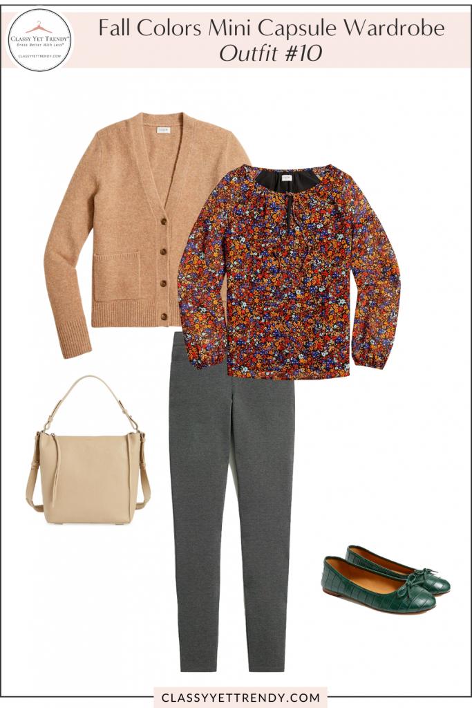 Fall Colors Mini Capsule Wardrobe - Outfit 10
