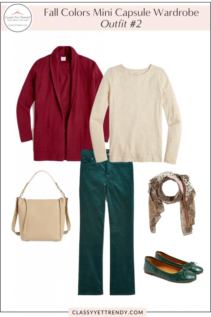 Fall Colors Mini Capsule Wardrobe - Outfit 2