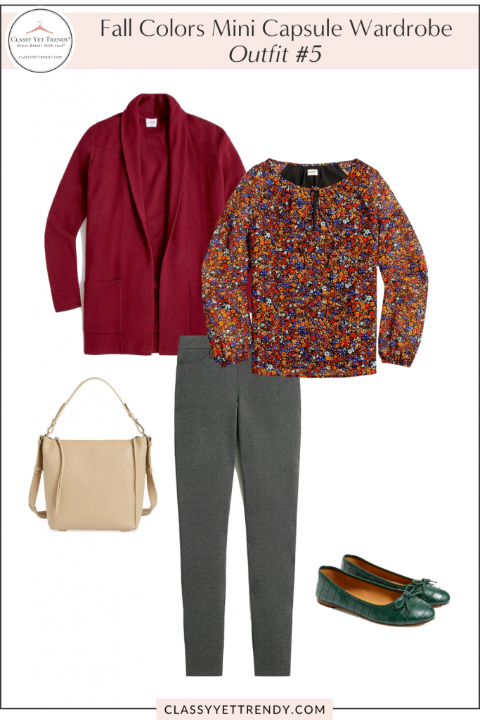 Fall Colors Mini Capsule Wardrobe - Outfit 5