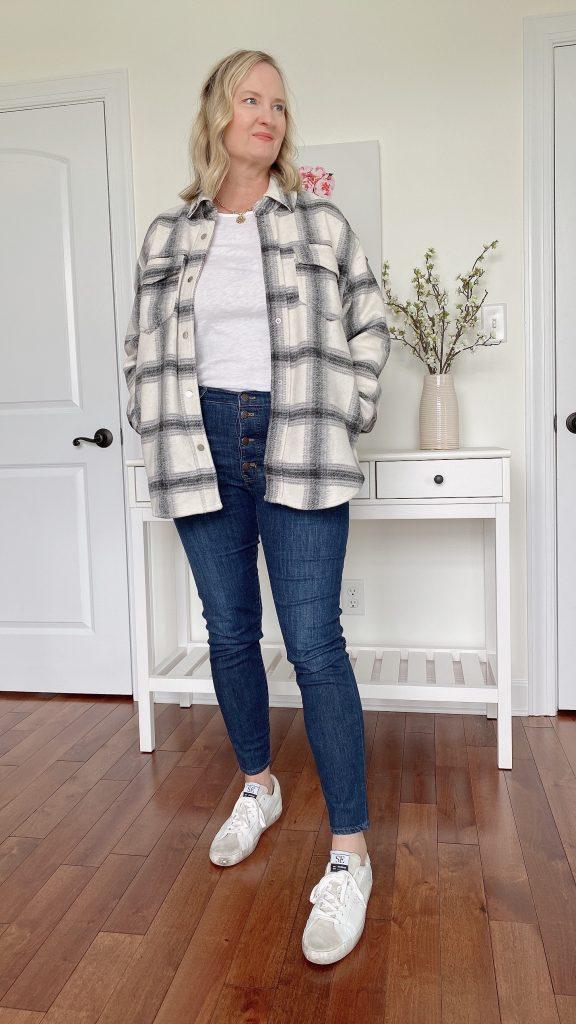 How To Wear A Shirt Jacket Shacket 3