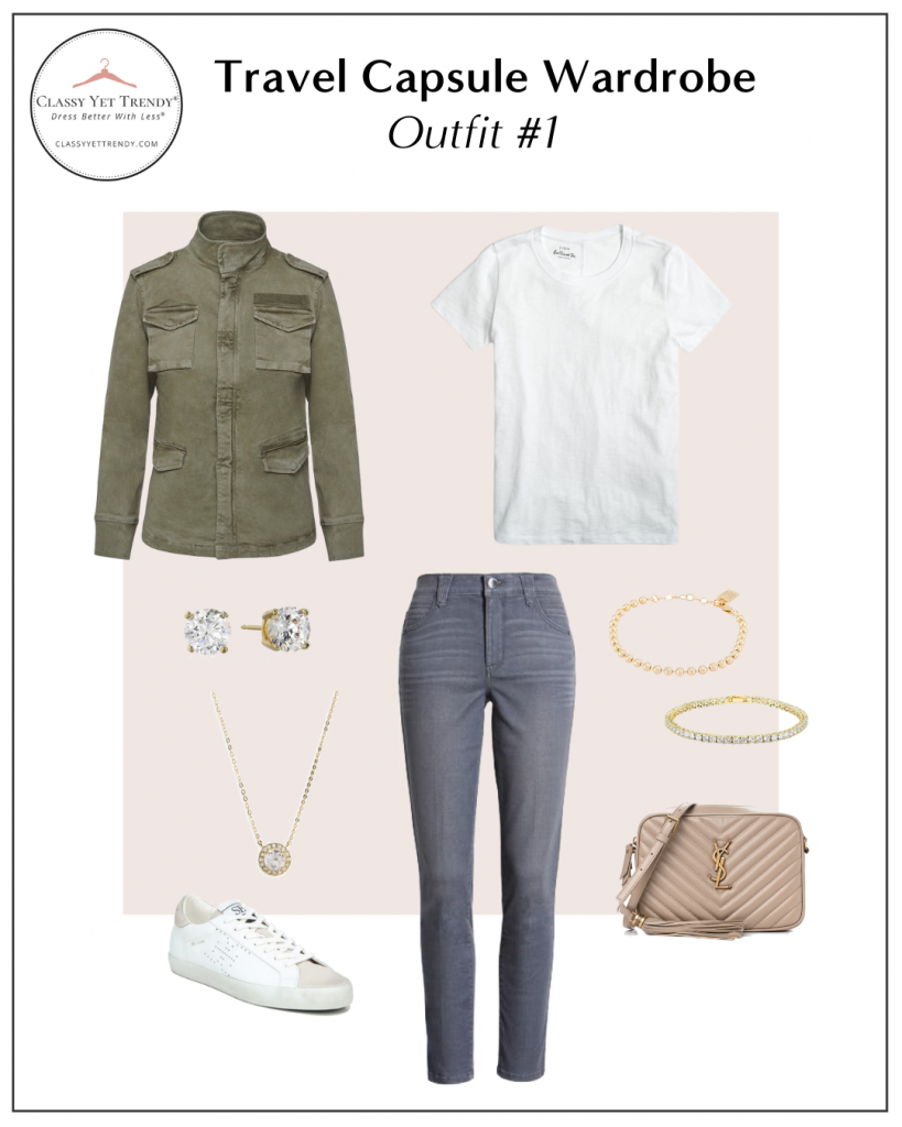 TRAVEL CAPSULE WARDROBE - OUTFIT 1