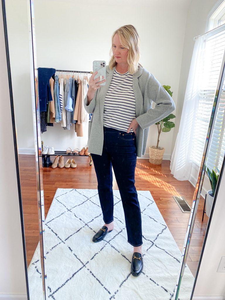 Try-On Session September 2021 - J Crew Eloise Blazer Slim Straight Jeans