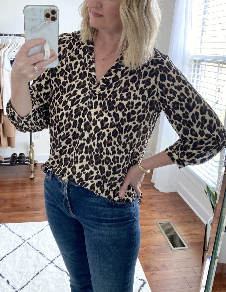 Try-On Session September 2021 - vince camuto blouse