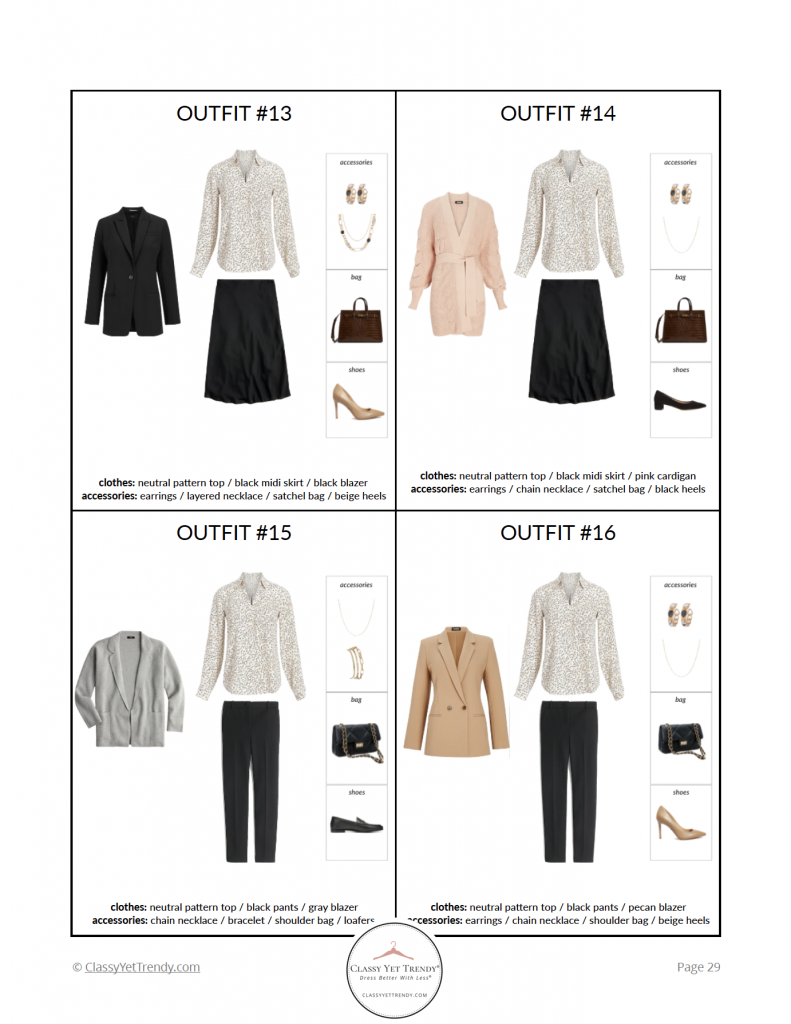 Workwear Capsule Wardrobe Fall 2021 outfits