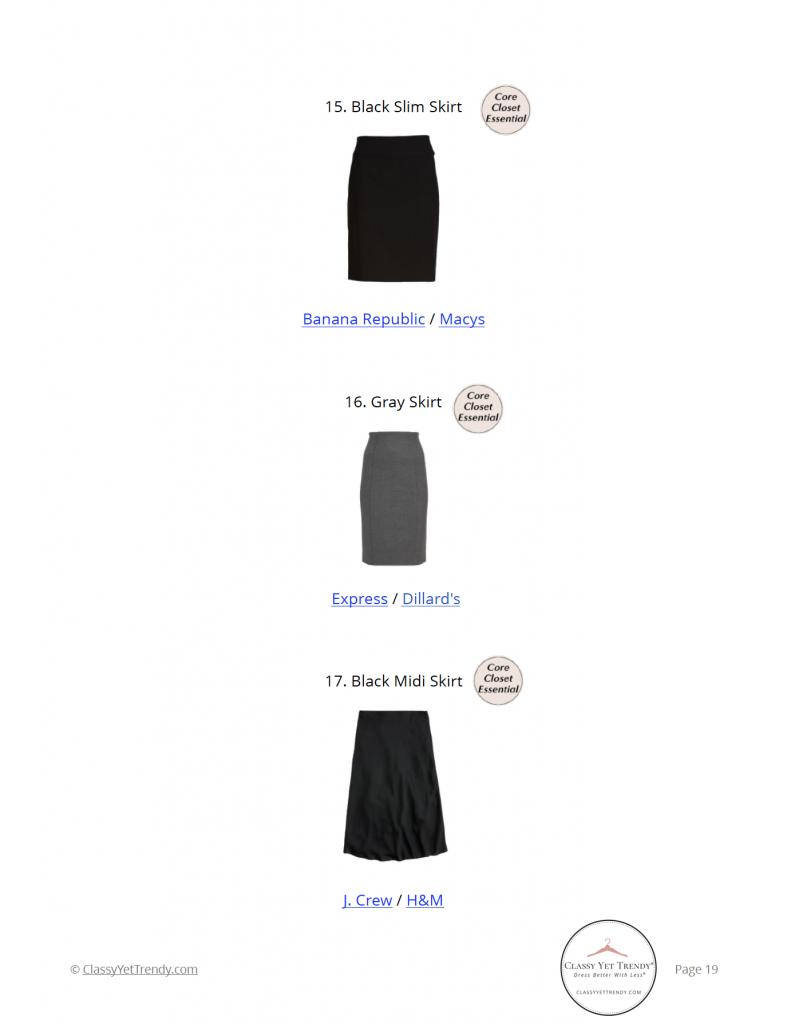 Workwear Capsule Wardrobe Fall 2021 shopping links
