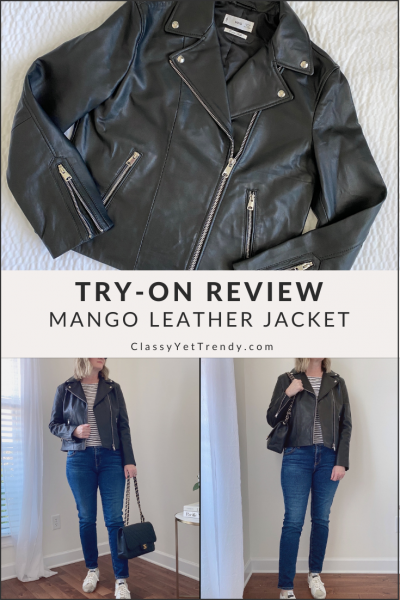 Try-On Review - Mango Leather Biker Jacket