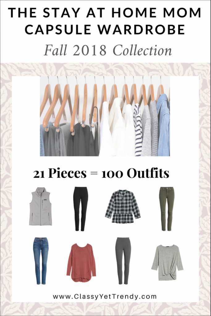 Stay At Home Mom Capsule Wardrobe Fall 2018 eBook