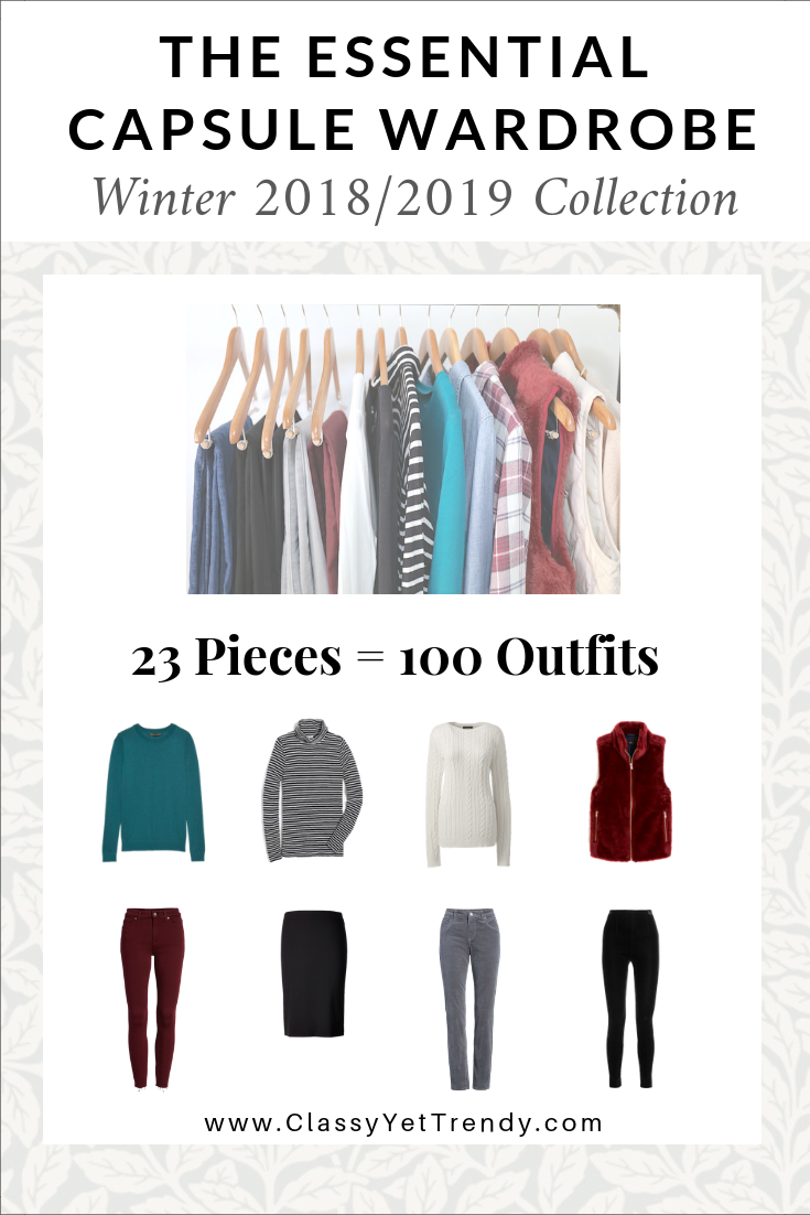 Essential Capsule Wardrobe Winter 2018-2019 eBook