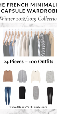 The French Minimalist Capsule Wardrobe: Winter 2018/2019 Collection