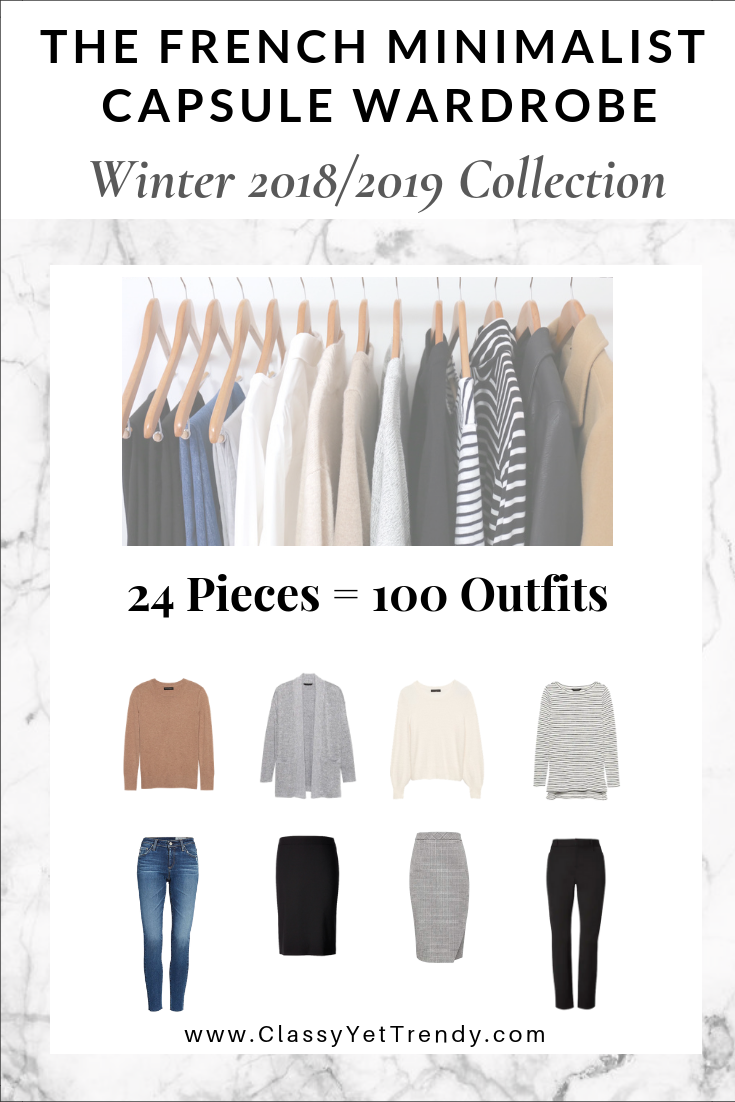 French Minimalist Capsule Wardrobe Winter 2018-2019