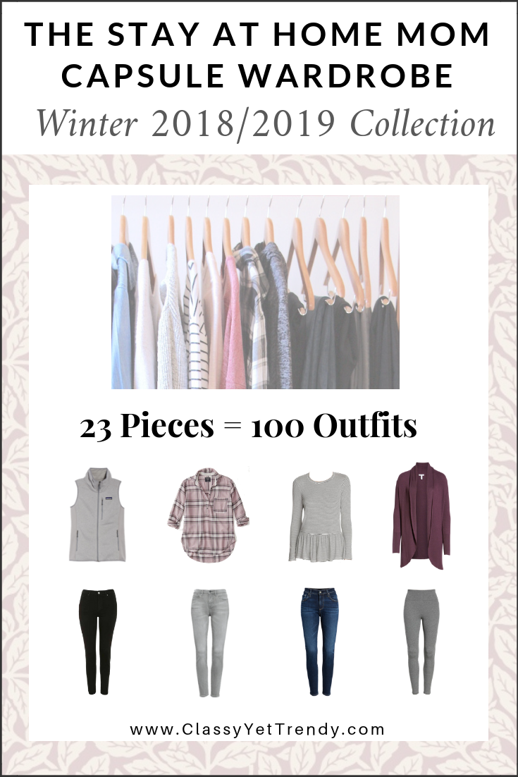 Stay At Home Mom Capsule Wardrobe Winter 2018-2019 eBook