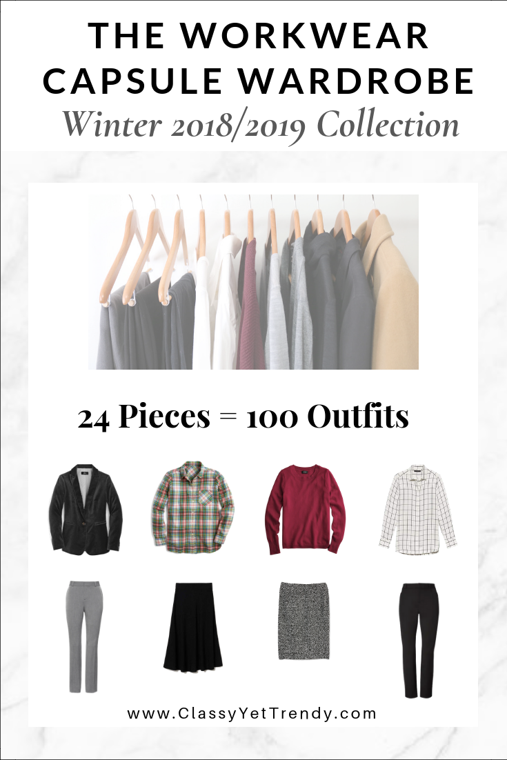 ee8f154c45d8 The Workwear Capsule Wardrobe  Winter 2018 2019 Collection - Classy ...