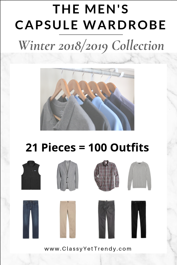 Mens Capsule Wardrobe Winter 2018-2019 eBook