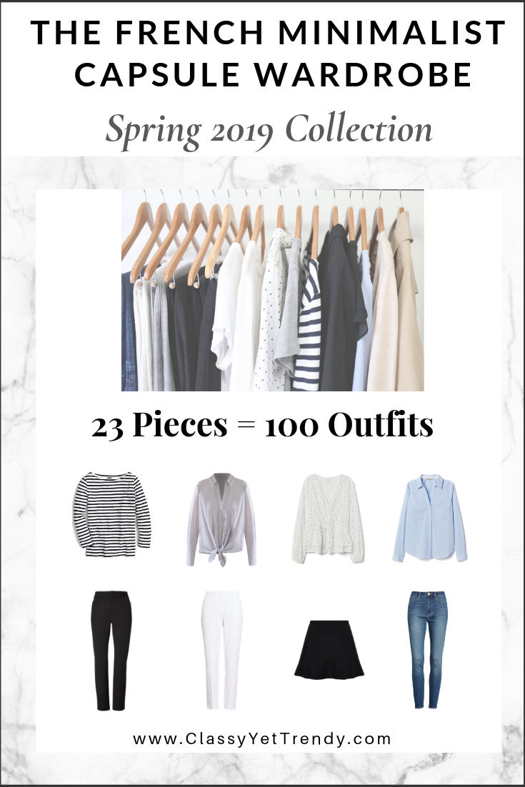 fc10bd7f2329a The French Minimalist Capsule Wardrobe: Spring 2019 Collection ...