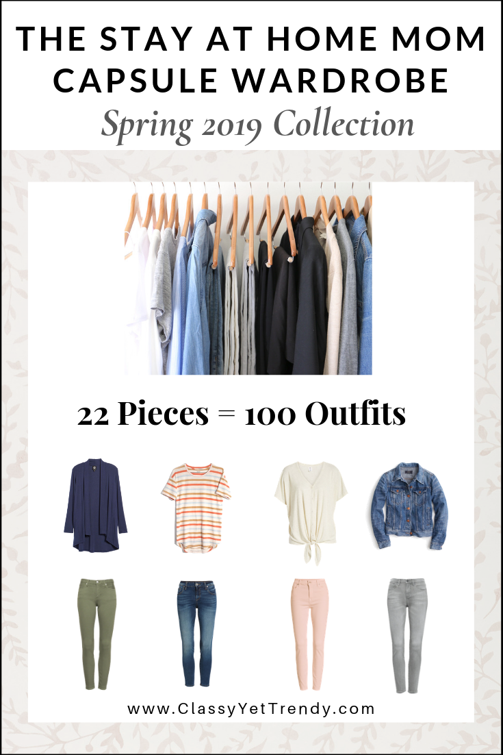 Stay At Home Mom Capsule Wardrobe Spring 2019 eBook