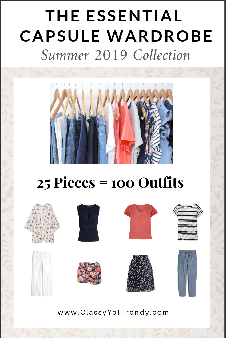 Essential Capsule Wardrobe Summer 2019