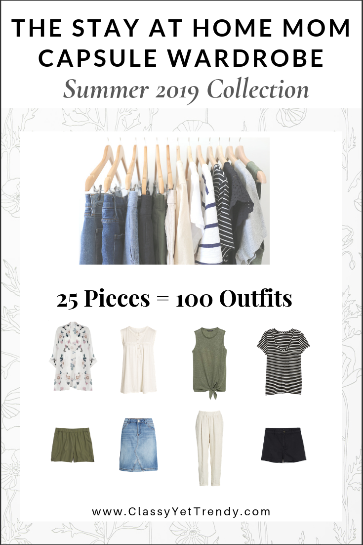 Stay At Home Mom Capsule Wardrobe Summer 2019 eBook Cover