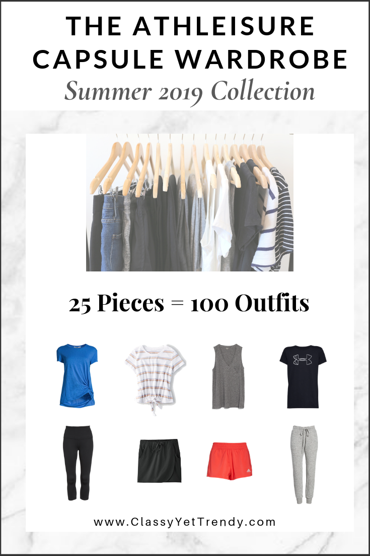 Athleisure Capsule Wardrobe Summer 2019 Collection