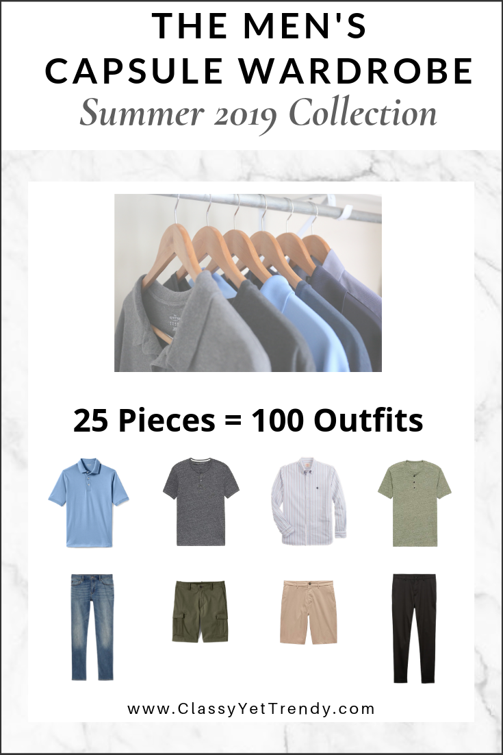 Mens Capsule Wardrobe Summer 2019 Collection