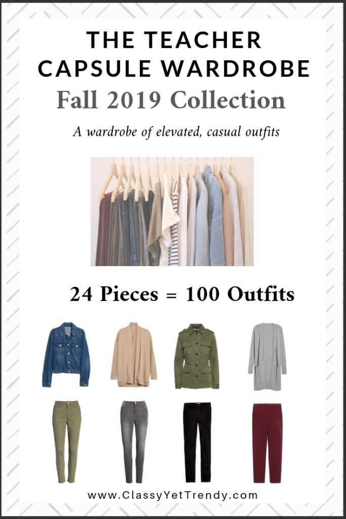 Teacher Capsule Wardrobe Fall 2019