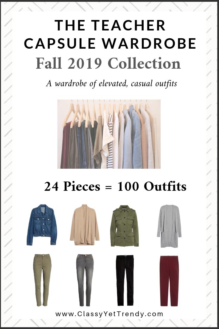 Capsule Wardrobe 2020 Fall.The Teacher Capsule Wardrobe Fall 2019 Collection Classy