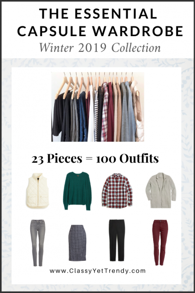 The Essential Capsule Wardrobe: Winter 2019 Collection