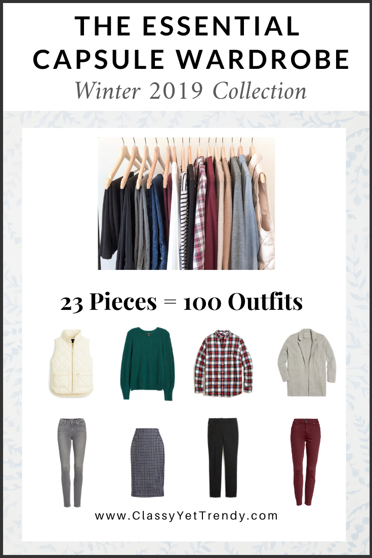 Essential Capsule Wardrobe Winter 2019 cover