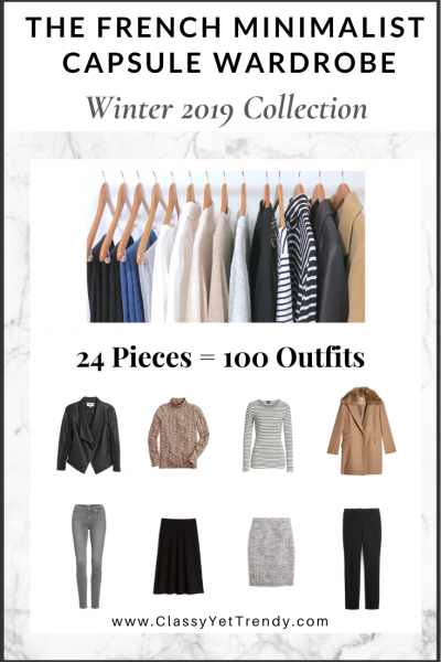 The French Minimalist Capsule Wardrobe: Winter 2019 Collection
