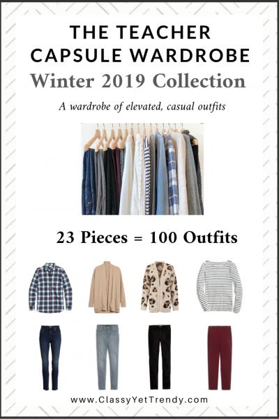 The Teacher Capsule Wardrobe: Winter 2019 Collection