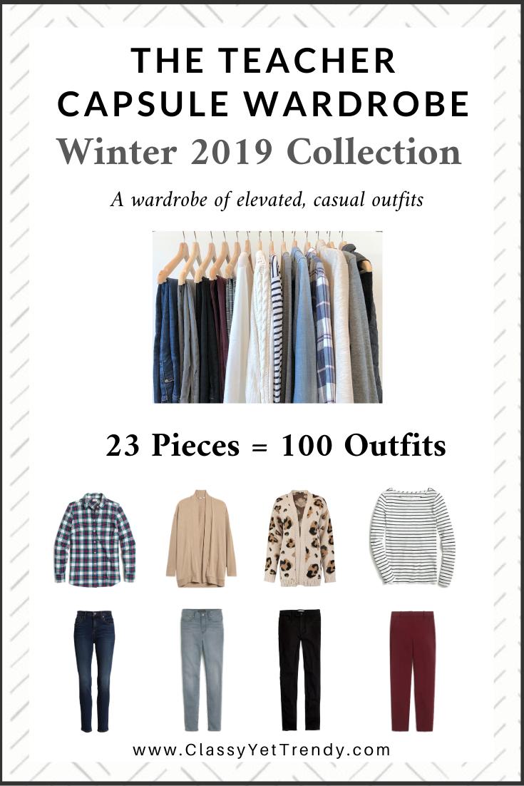 Teacher Capsule Wardrobe Winter 2019 eBook cover