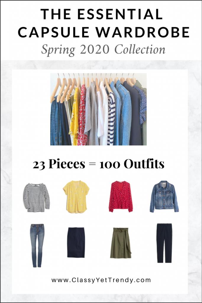 Essential Capsule Wardrobe Spring 2020 cover