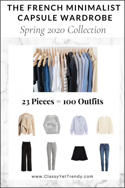 The French Minimalist Capsule Wardrobe: Spring 2020 Collection