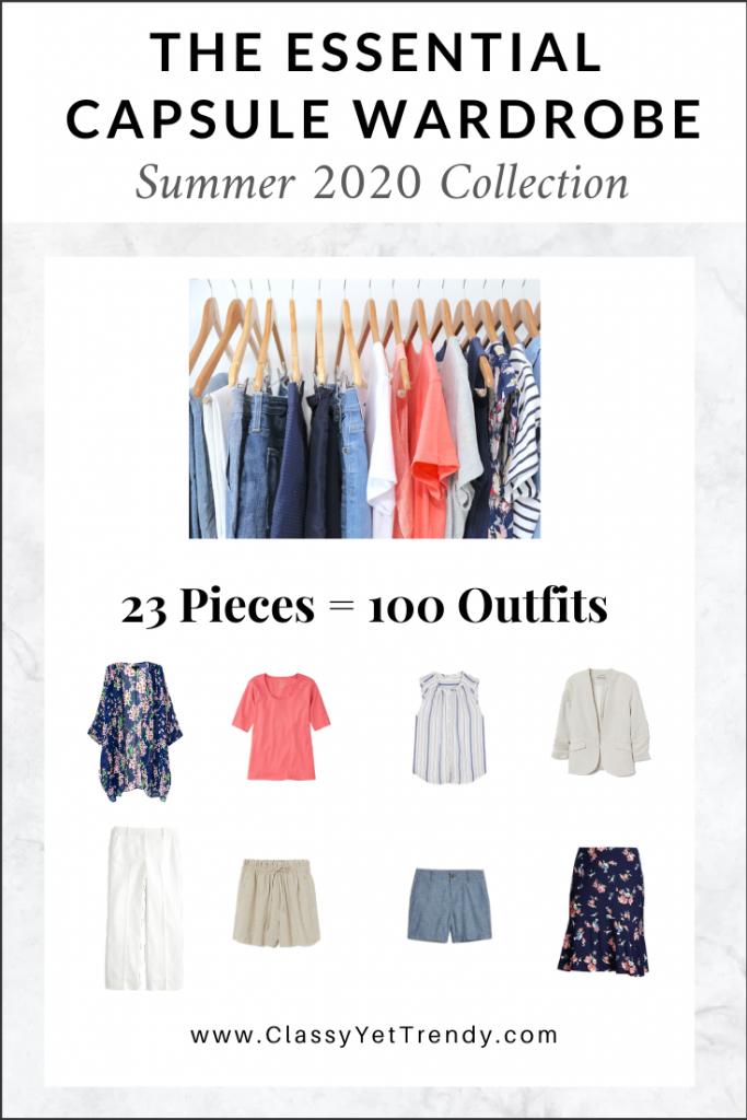 Essential Capsule Wardrobe Summer 2020 cover