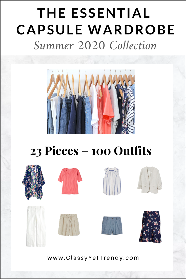 Essential Capsule Wardrobe Summer 2020 cover