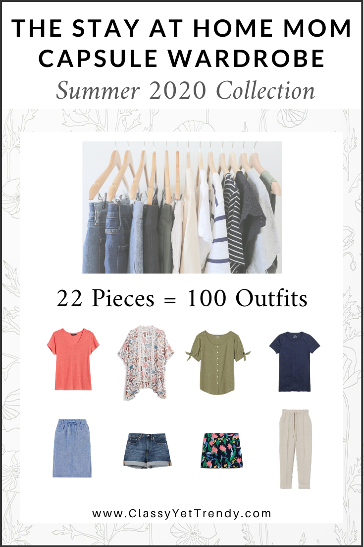 Stay At Home Mom Capsule Wardrobe Summer 2020 cover
