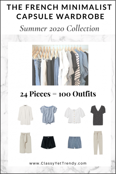 The French Minimalist Capsule Wardrobe: Summer 2020 Collection