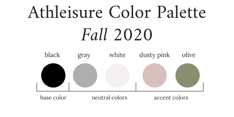 Athleisure Capsule Wardrobe Color Palette - Fall 2020