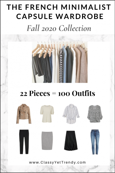 The French Minimalist Capsule Wardrobe: Fall 2020 Collection