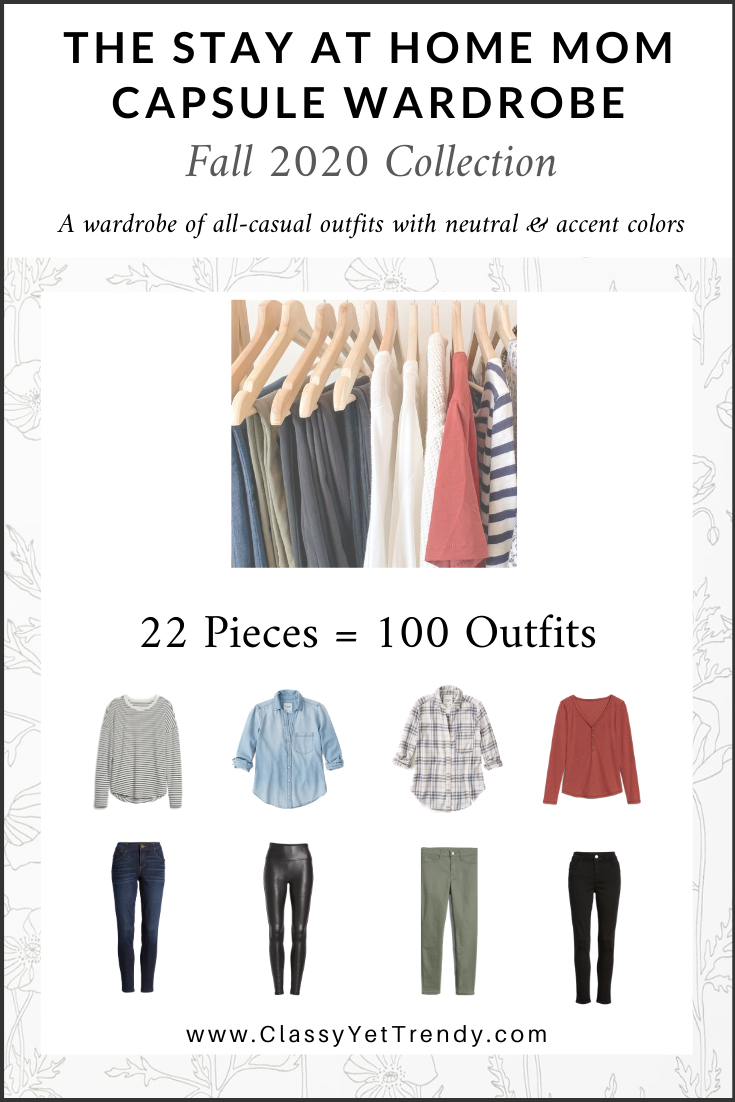 Stay At Home Mom Capsule Wardrobe Fall 2020 cover