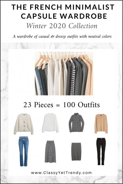 The French Minimalist Capsule Wardrobe: Winter 2020 Collection