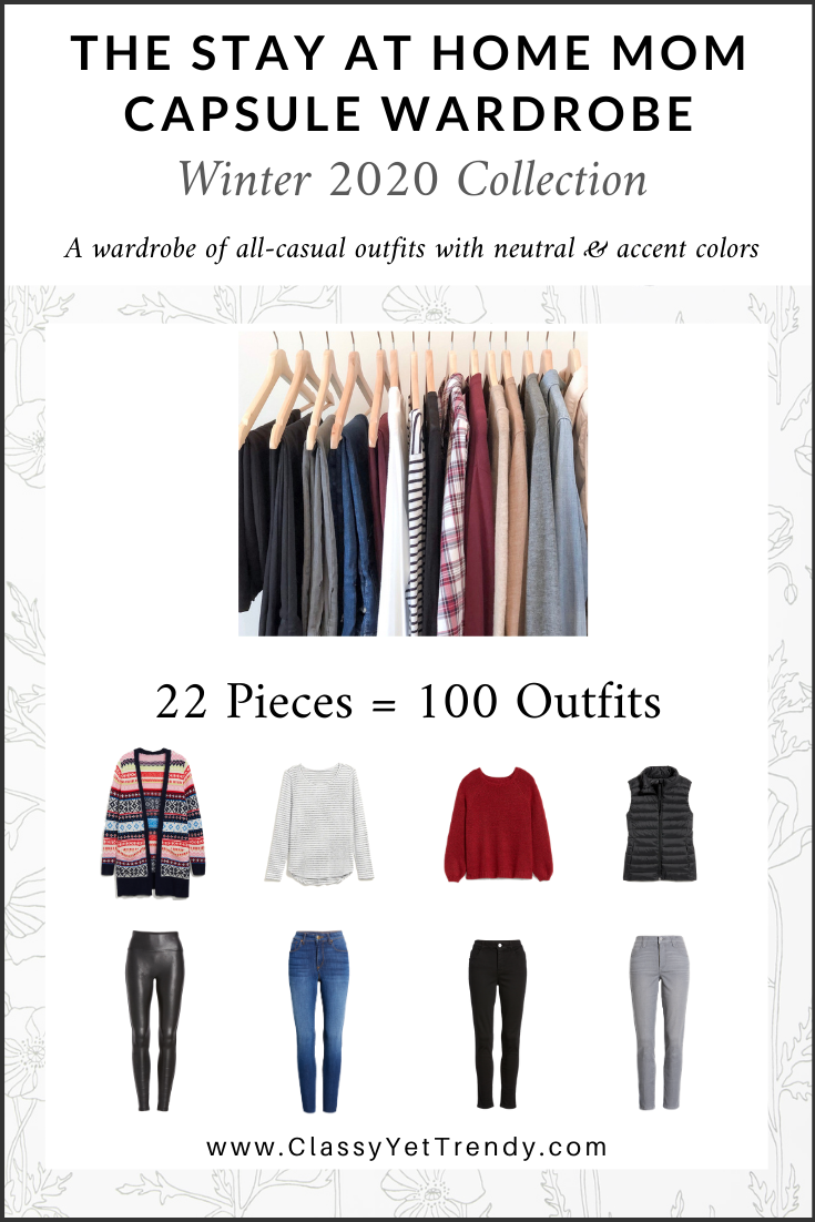 Stay At Home Mom Capsule Wardrobe Winter 2020 cover
