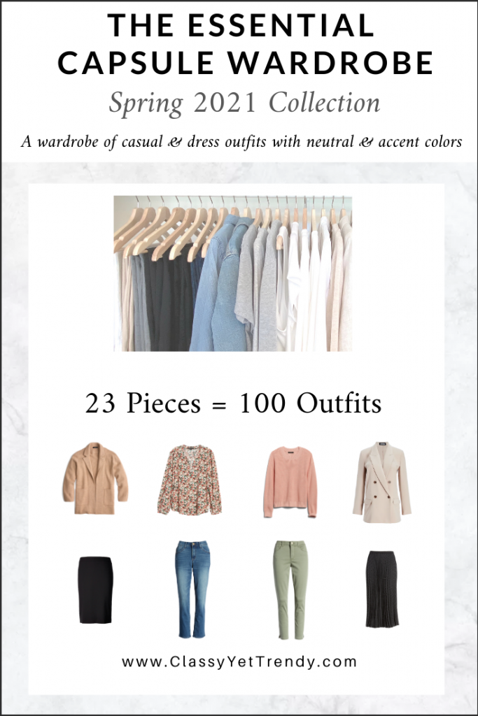 Essential Capsule Wardrobe Spring 2021 cover