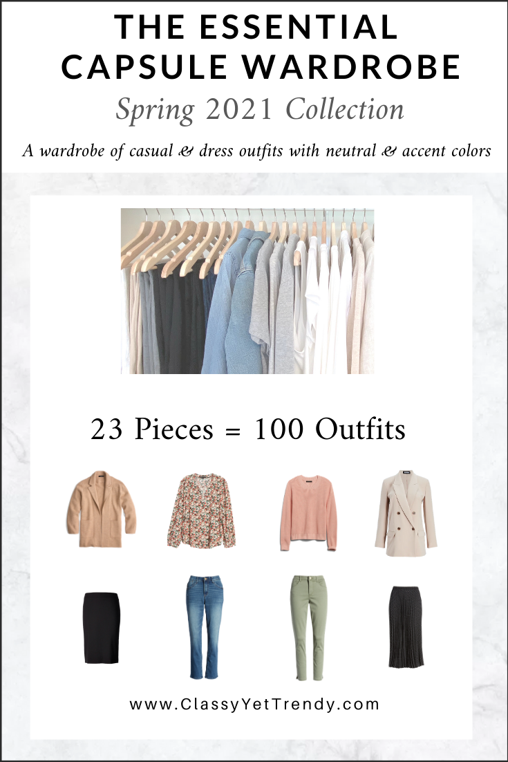 The Essential Capsule Wardrobe: Spring 7 Collection - Classy
