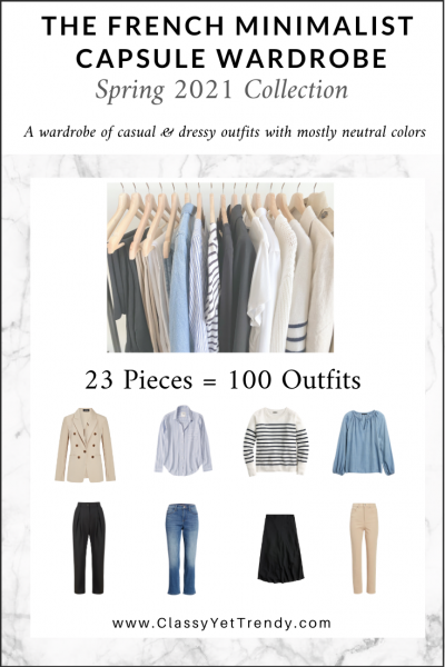 The French Minimalist Capsule Wardrobe: Spring 2021 Collection