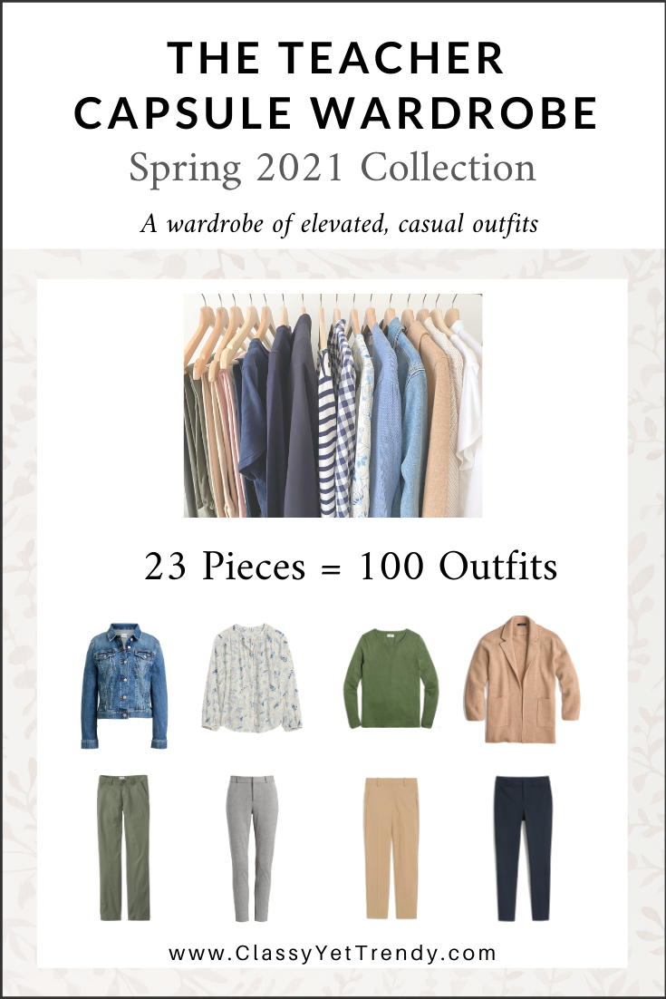 The Teacher Capsule Wardrobe: Spring 7 Collection - Classy Yet