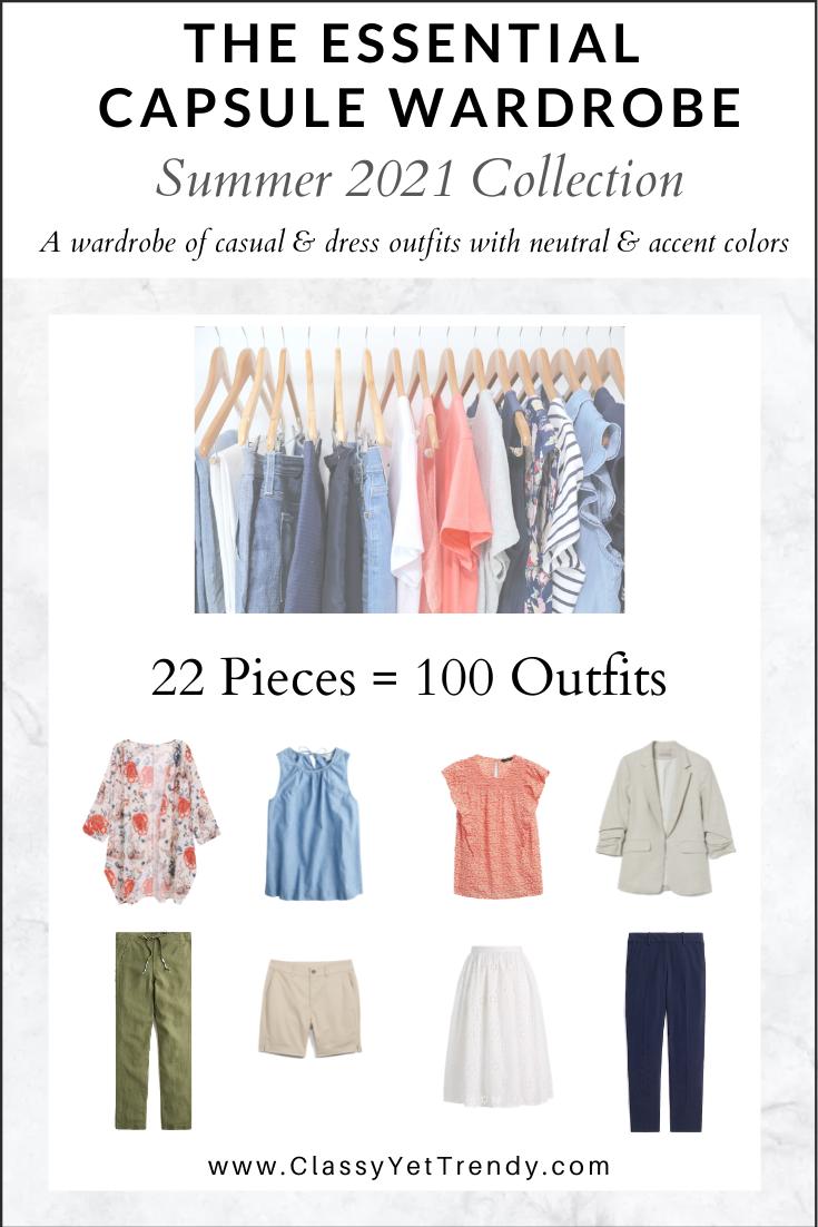 Essential Capsule Wardrobe Summer 2021 cover